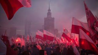 Przemówienie Prezydenta Andrzeja Dudy na Marszu Niepodległości i hymn narodowy