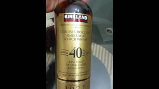 Kirkland signature 40 yr old single malt scotch unboxing