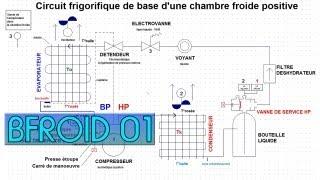 Bfroid01 Le Circuit Frigorifique Dans Une Chambre Froide Positive