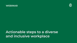 Actionable steps to a diverse and inclusive workplace Logo