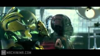 Mortal Kombat Legacy - Cyrax and Sektor VS Android X ( Skillet - Awake And Alive )