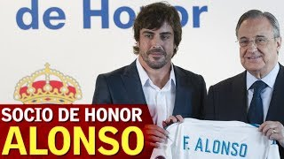 "Fernando Alonso, socio de honor del Real Madrid: ""Este club me eligió"" 
