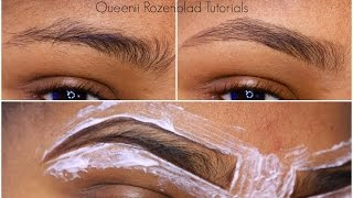 How I groom my brows at home - Queenii Rozenblad width=