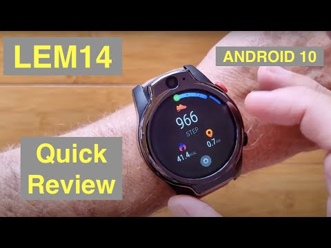 LEMFO LEM14 Android 10 MT6762 Dual Cameras 4GB/64GB Face Unlock 4G Smartwatch: Quick Overview