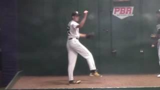 Xander Rojahn Class 2019 pitching at PBR Underclass Showcase 10/23/2016