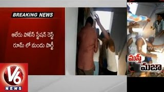 Aler police drunk and dancing in Police rest house (04-03-2015)