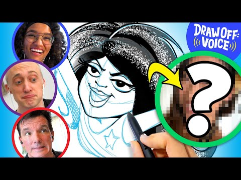 Artists Draw A Stranger Based On Voice (Christine) • Draw-Off Voice