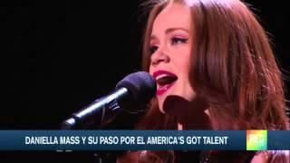 Daniela Mass en la semifinal de America's Got Talent