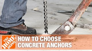 A video highlights features of different types of concrete anchors.