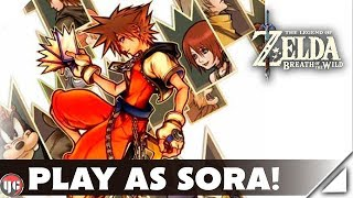 Play As Sora! | Zelda Breath Of The Wild | MOD