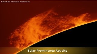 Massive Solar Prominence Activity