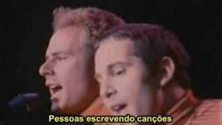 Simon & Garfunkel Sound Of Silence Legendado