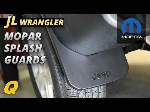 Mopar Splash Guards for Jeep Wrangler JL