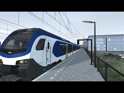 Virtueel Treinspotten  Flirt 3 vertrekt van station Zutphen