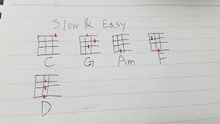 Slow & Easy / 平井大 ウクレレ練習動画
