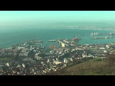 Cape Town overview – Overview of Cape Town from Signal hill in South Africa
