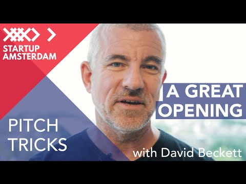 Pitch Tricks #3 Open Like a Pro - David Beckett - Amsterdam Capital Week Prep photo