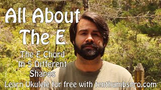How To Play an E Chord on Ukulele - Beginner Ukulele Tutorial width=