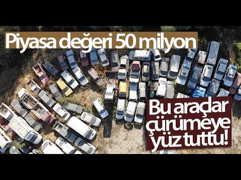 Piyasa Değeri 50 Milyon TL Olan Bu Araçlar Çürümeye Terk Edildi