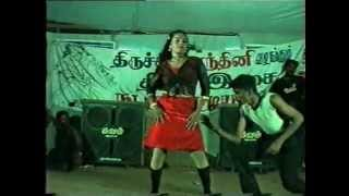 Tamil Stage Dance Girls Group Dance width=