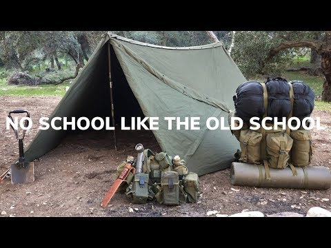 Solo Overnighter Using Old School Military Gear and Campfire Chili Mac