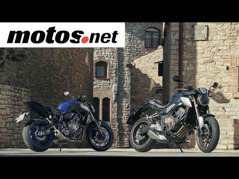 Comparativo Honda CB 650 R vs Yamaha MT-07 / Prueba / Preview en español