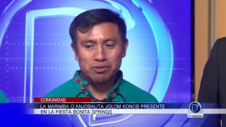 Nos visitan talentosos guatemaltecos de la Marimba Q'anjobalita Jolom Konob