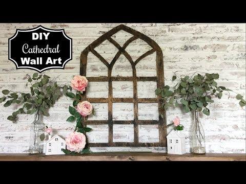 DIY WOOD CATHEDRAL WALL ART | FARMHOUSE DIY | Momma From scratch