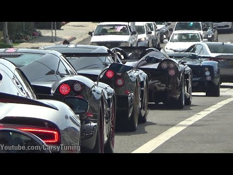 Start of 2018 Pagani Raduno: California, Zonda F AMAZING SOUNDS