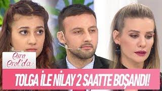 Tolga ile Nilay 2 saatte boşandı - Esra Erol'da 8 Ocak 2019