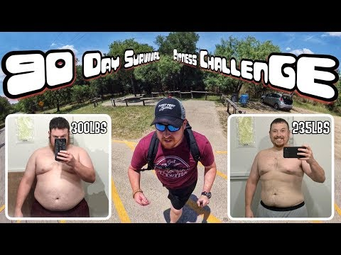 FAT TO FIT 65 Lbs Lost - 90 Day Survival Fitness Challenge - Day 1