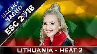 TOP 12 (HEAT 2) LITHUANIA ESC 2018 (Eurovizijos Atranka Preselection)