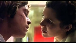 Leia & Luke incest hot kiss & deleted passionate scene, Star Wars width=