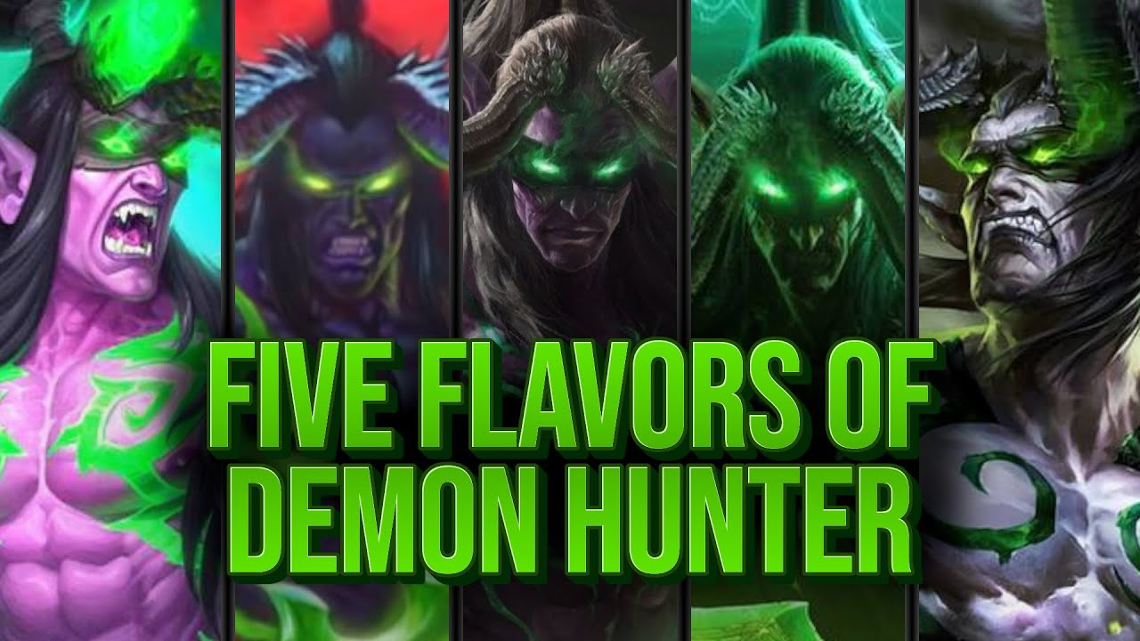 TrumpSC - 5 Games 5 Different Demons Hunters | Dude Paladin | Madness at the Darkmoon Faire | Hearthstone