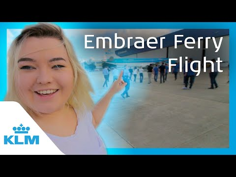 KLM Intern on a Mission - Embraer Ferry Flight
