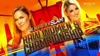 WWE SummerSlam 2018: Alexa Bliss vs. Ronda Rousey - Official Match Card
