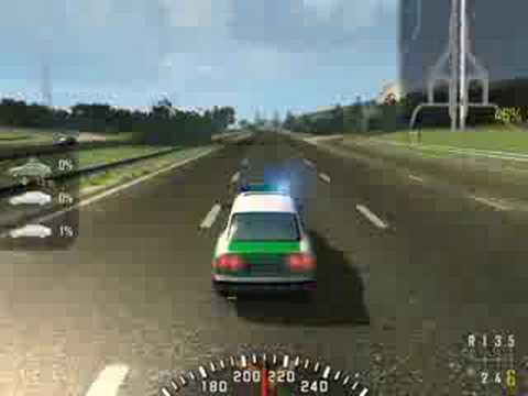 Gestartet auf Autobahn mit Polizei Auto - Alarm Für  Cobra 11 : Crash Time