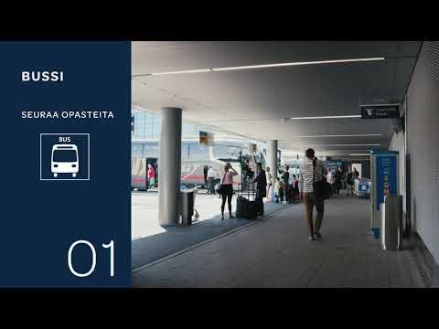 Miten päästä lentoasemalta Helsingin keskustaan? Esittelemme, miltä Helsinki-Vantaan bussi-, juna- ja taksiasema näyttävät ja, miten helposti ne löytyvät!