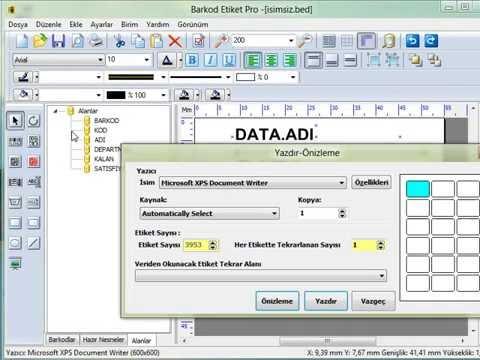 Barkod Etiket Programı ile veritabanından veri alma (excel, access vs)