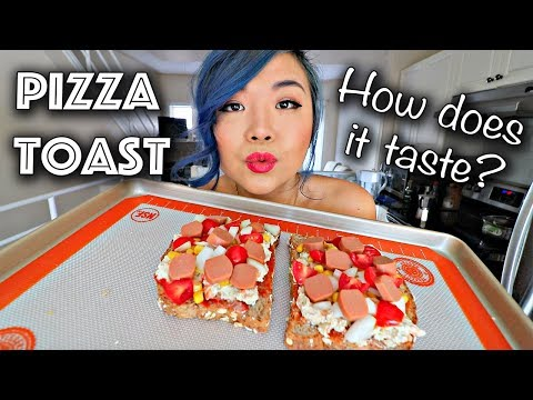 "VEGAN PIZZA TOAST... how does it taste""! (Easy Vegan Recipe)"