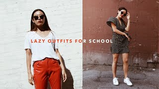 5 LAZY OUTFITS FOR SCHOOL