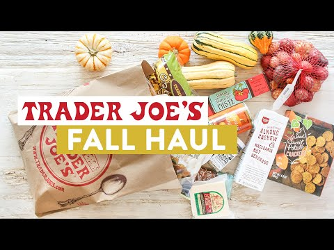 My BIGGEST Trader Joe's Fall Grocery Haul YET!
