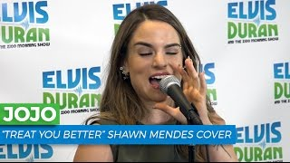 "JoJo - ""Treat You Better"" Shawn Mendes Acoustic Cover 