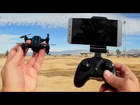 JX 1601HW Micro Folding FPV Camera Drone Flight Test Review