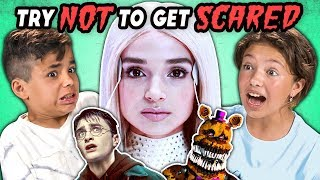 Kids React To Try Not To Get Scared Challenge (Poppy, Harry Potter, Five Nights At Freddy's)