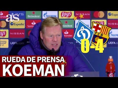 DINAMO DE KIEV 0 – BARCELONA 4 | Rueda de prensa de KOEMAN | Diario AS