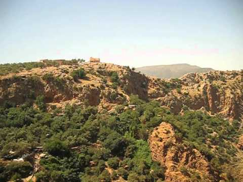 wonderful view 2 from the top of cascade ouzoud including beautiful scenery morocco