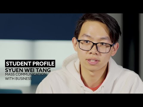 Student Profile | Syuen Wei Tang | Mass Communication with Business BA