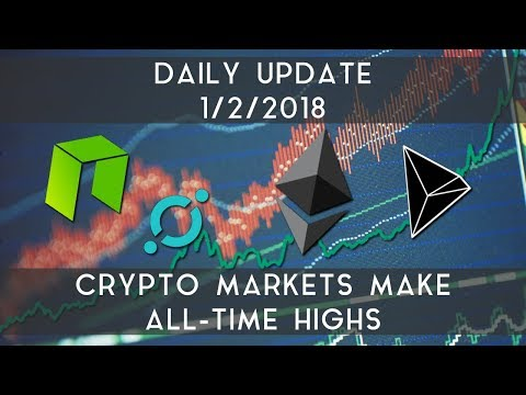Daily Update (1/2/2018) | Crypto markets surge to all-time highs