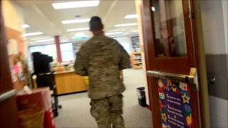 STUNNING VIDEO - Soldier on Leave Surprises his 6 Children!